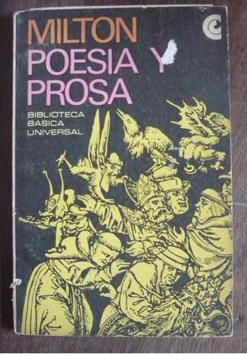 milton - poesía y prosa