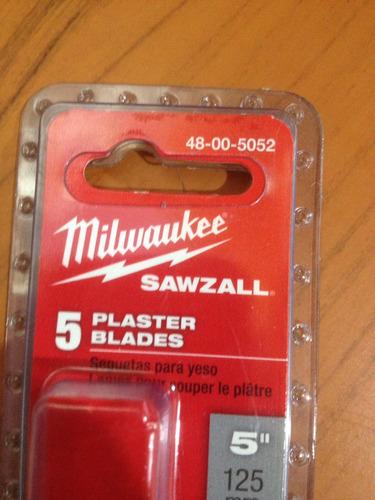 milwaukee hojas sierras sable 48-00-5052 set-5 piezas