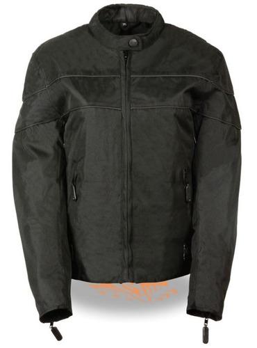 milwaukee leather damas ligero textil chaqueta w/ estiramien