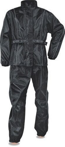 milwaukee leather damas negro traje de lluvia de oxford de n