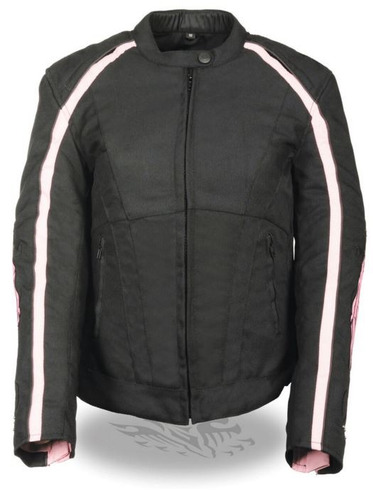 milwaukee leather de las mujeres textil chaqueta w/ stud y a