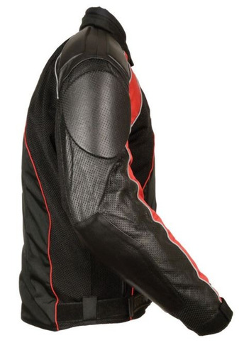 milwaukee leather hombres combinado cuero/textil/corredor de