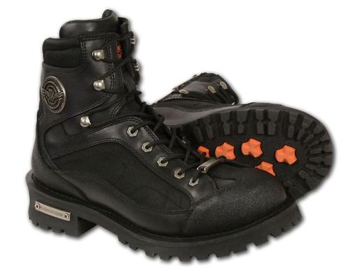 milwaukee leather hombres de encaje hasta las botas de punte