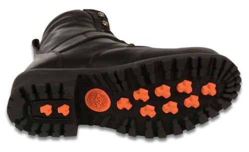 milwaukee leather hombres del lado de la hebilla botas negro