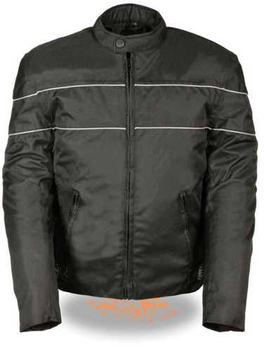 milwaukee leather hombres scooter de estilo textil chaqueta