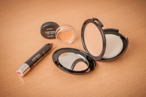 mimika cream powder base compacta lidherma