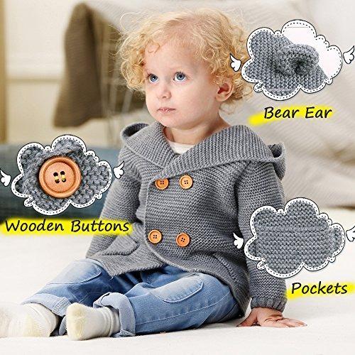 8635144a8444 Mimixiong Baby Cardigan Sweater Cartoon Hoodies Long Sleeve ...