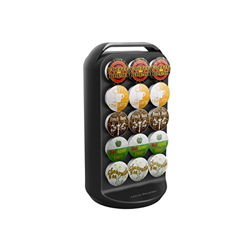 mind reader crs02-blk apollo  spinning coffee pod carousel,