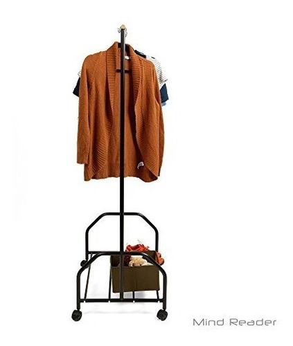 mind reader ropa perchero con un estante inferior para zapat