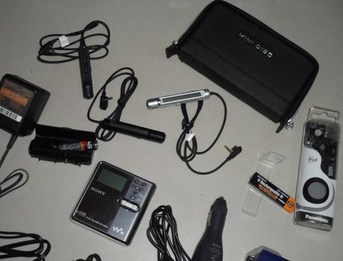 mindisc sony hi-md mz-rh910 +  24 accesorios + envío gratis
