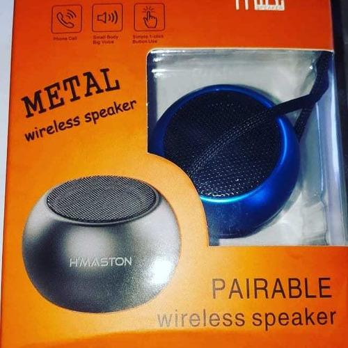 mine caixa de som amplificada 3w metal h'maston