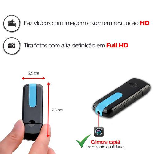 mine camera mini fotografica video filmadora pen drive 8gb