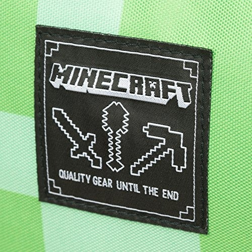 minecraft 18  creeper kids mochila  verde