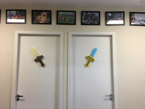 minecraft 2 espadas com som e luz