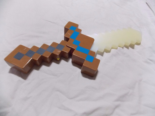 minecraft espada luz e sons