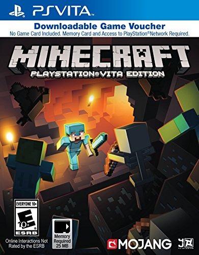 minecraft game voucher sony playstation vita