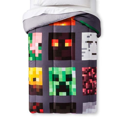minecraft good vs evil comforter full