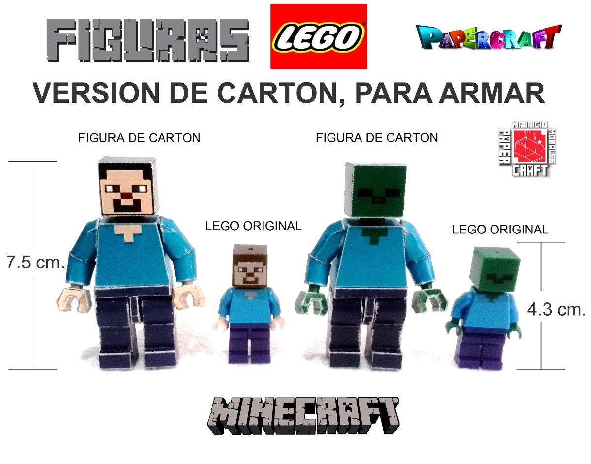 Minecraft Lego Papercraft 100 00 En Mercado Libre
