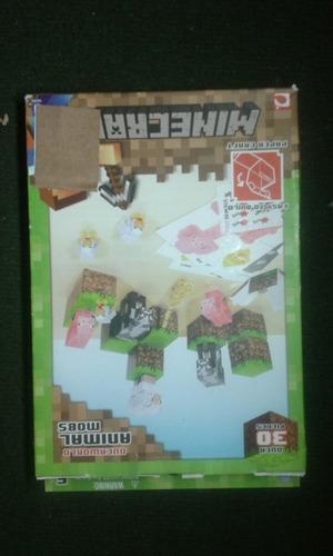 minecraft over world animals mobs paper craft over 30 pieces