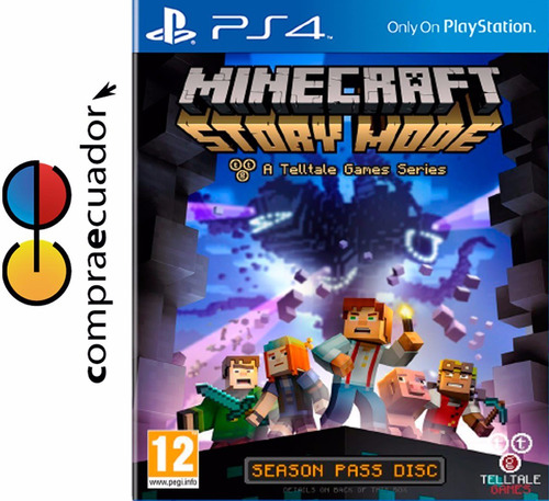 minecraft story mode ps4 playstation 4 juego físico sellado