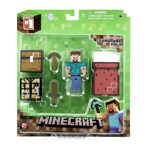minecraft survival pack series 1 jazwares