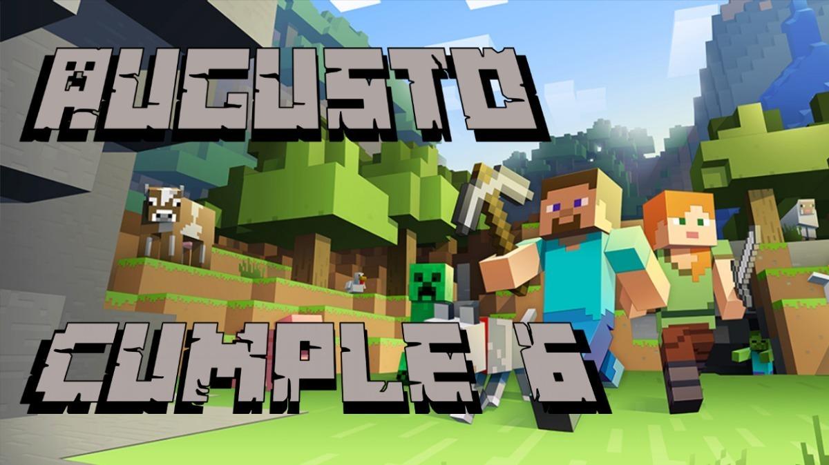 Minecraft Tarjeta Invitación Digital Cumpleaños Vídeo