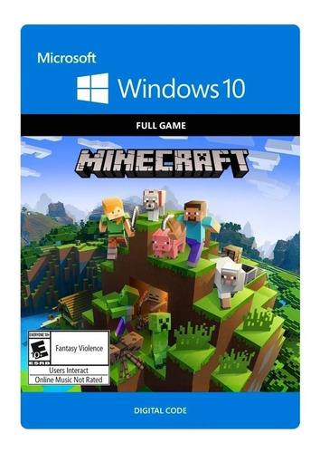 minecraft: windows 10 edition - código microsoft store.
