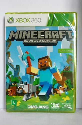 minecraft xbox 360 edition novo midia fisica português