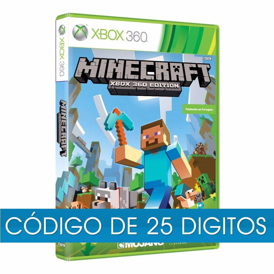 Minecraft xbox midia digital código digitos