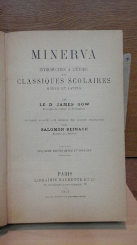minerva. james gow