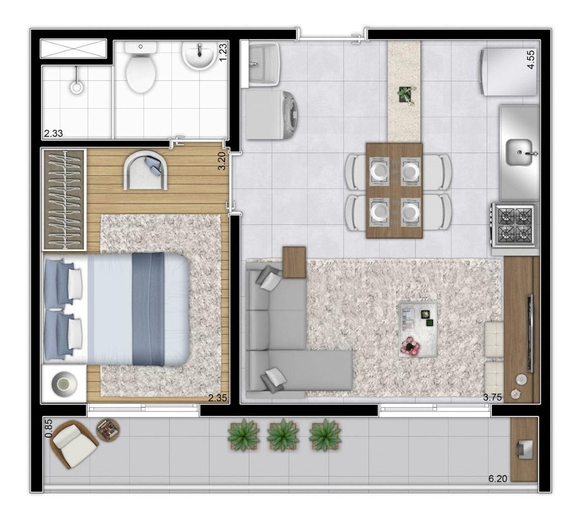 minha casa minha vida 1 dorms  vila andrade r$ 158.900
