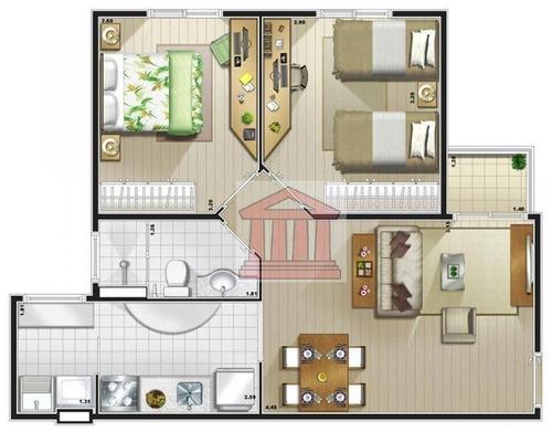 minha casa minha vida jardim oriente zona sul 2 dormitórios - ap0266