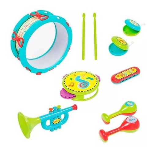 minha primeira bandinha brinquedo jogo musical multicores unisex desenvolve coordenação motora 10 pecas buba baby.