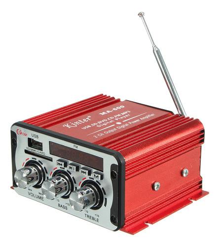 mini 2ch hi-fi estéreo amplificador de dvd mp3 usb sd aux co