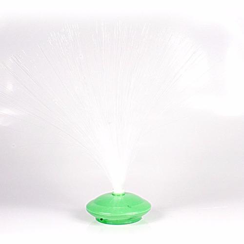 mini abajur enfeite de mesa fibra ótica com / 35 peça