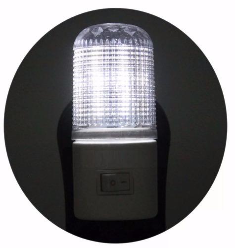 mini abajur tomada luz noturna 4 leds bivolt quarto criança