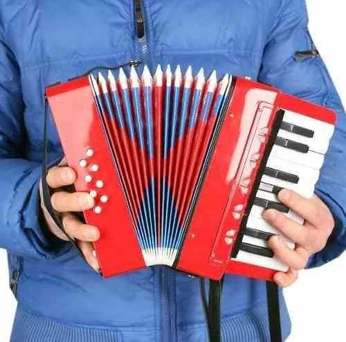 mini acordeon para niños, 17 acordes + caleidoscopio y armon