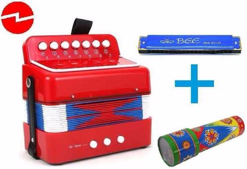 mini acordeon para niños, 7 acordes 2 bajos + calei. y armon