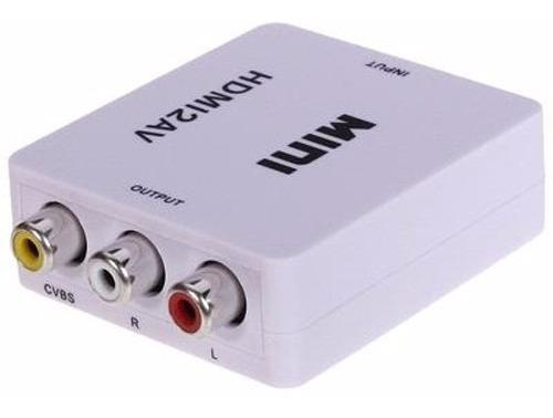 mini adaptador hdmi2av conversor hdmi p/ video composto rca