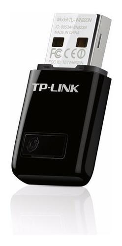 mini adaptador usb inalámbrico n 300mbps tl-wn823n