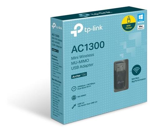 mini adaptador usb tp-link mini inalámbrico ac1300 archer t3