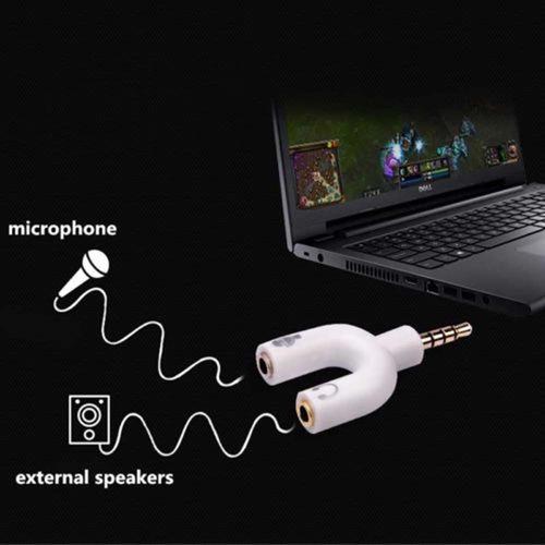 mini adaptador y para fone e microfone headset celular note