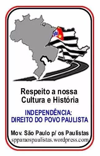 mini-adesivo separatismo paulista 8x5cm - r$2,50 cada +frete