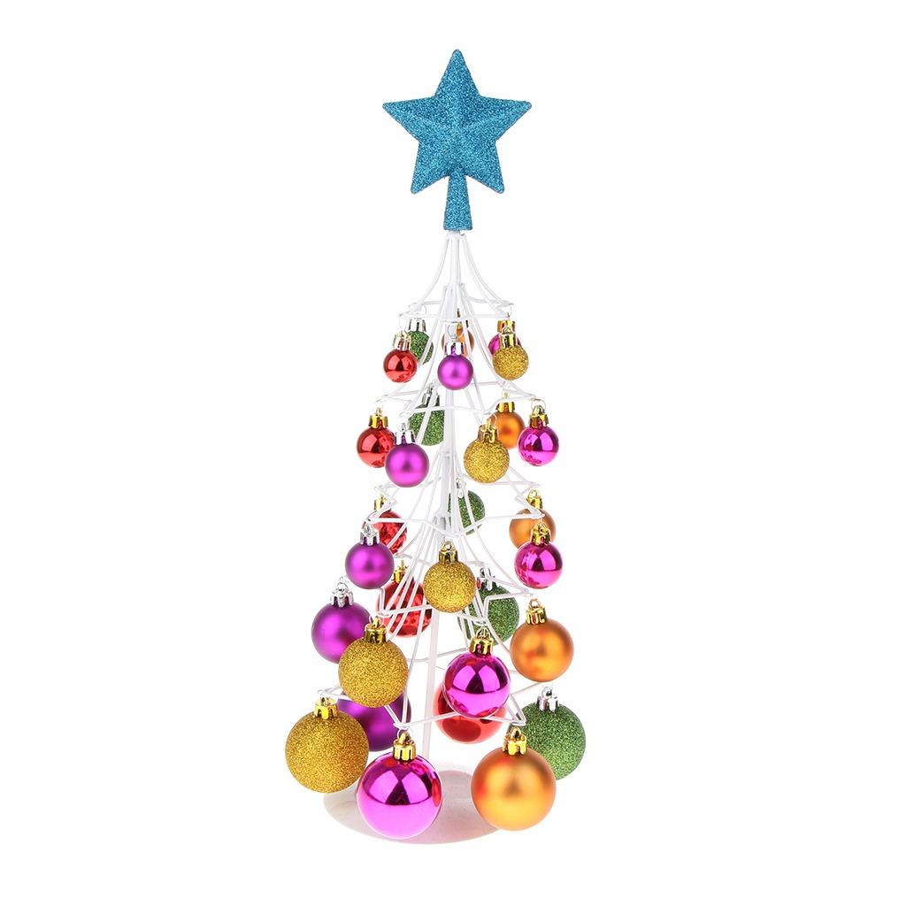 2469b62f832 mini adorno navidad árbol bola navidad casa mesa pieza cent. Cargando zoom.