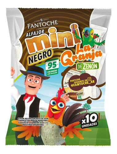 mini alfajor chocolate fantoche la granja de zenon x10 mini