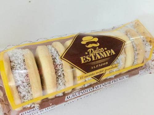 mini alfajor maicena x5u dulce estampa barata la golosineria