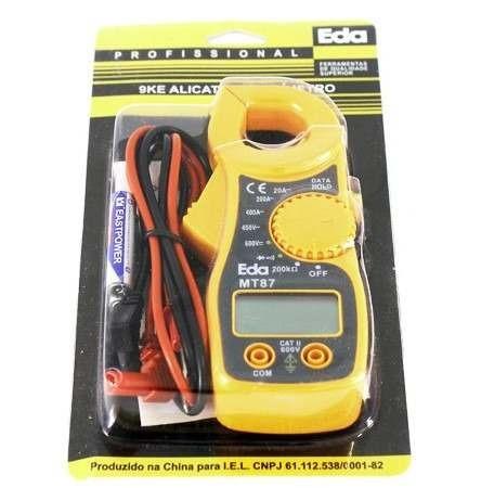 mini alicate amperimetro digital mt87 eda ac/dc
