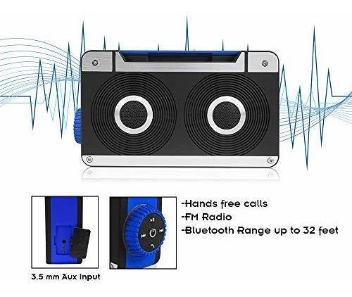 mini altavoz bluetooth de axess spbt1063bl con manos libres