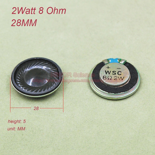 mini alto falante 28mm 2 wats 8 ohms eletrônica frete r$ 12