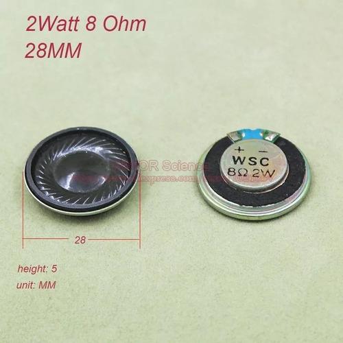 mini alto falantes 28mm 2 wats rms 8 ohms kit com 5 unidades